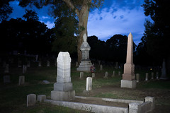 The Mysteries of the Graveyard (UnsignedZero) Tags: bluehour california celebrationevent cemetery item mareisland nightmareisland object out outdoor outdoors outside outsides solanocounty time vallejo