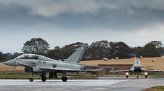 Typhoon pair (GWMcLaughlin) Tags: 70d ef airport aeroplane flying canon eurofighter warrior raf scotland flight aviation typhoon military zk380 t2 100400 joint aircraft 100400l
