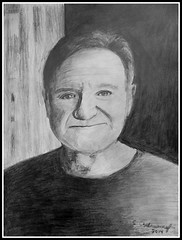 Robin Williams - Pencil Drawing by STEVEN CHATEAUNEUF(2014) - This Photo Of This Drawing Was Also Taken by STEVEN CHATEAUNEUF (snc145) Tags: friends portrait people detail celebrity art face portraits actors artist drawing expression drawings elderly artists movies comedian actor entertainer celebrities popeye robinwilliams pencildrawing shading autofocus 2014 comedians pencildrawings mrsdoubtfire bristolpaper flickrunitedaward stevenchateauneuf pandaonflickr oneflewoverthecoocoonest