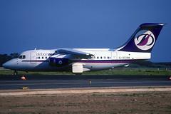 Debonair BAe 146-100 G-DEBN BCN 10/07/1999 (jordi757) Tags: barcelona nikon airplanes bcn kodachrome bae f90x kodachrome64 bae146 avions debonair elprat lebl bae146100 gdebn