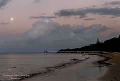 Sundowners (THE SMOKING CAMERA HeRvEy BaY davefryer) Tags: travel moon art canon eos gold bay coast seaside flickr image 85mm award full hervey fraser 18 6d davefryer