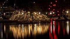Christmas decorations - Stavanger (P i j u s h) Tags: lighting christmas city water norway canon lights stavanger decoration celebration das 2014 600d breiavatnet pijush