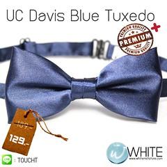 UC Davis Blue Tuxedo - หูกระต่าย สีน้ำเงินเข้ม (36) เนื้อผ้าผิวมัน เรียบ เกรต A
