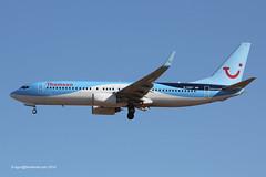 G-FDZT - 2011 build Boeing B737-8K5, on approach to Runway 24L at Palma (egcc) Tags: by tom thomson boeing mallorca palma tui majorca b737 pmi b737800 b738 3532 lepa b7378k5 b737ng 37248 worldoftui thomsonairways gfdzt
