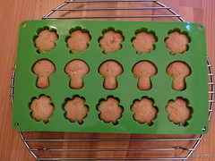 Frisch gebacken - freshly baked (Sockenhummel) Tags: fuji finepix fujifilm neujahr x20 kuchen backen glck kleeblatt kuchenform glckspilz glckskuchen fujix20