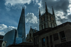 Southwark Cathedral and the Shard (Cissa Rego) Tags: uk sunset england urban london westminster skyline towerbridge landscape nikon market d70s housesofparliament londoneye bigben millenniumbridge boroughmarket kingscross stpaulscathedral stpancras kingscrossstation southwark thegherkin londontower londoncityhall stpancrasstation stpancrasinternational theshard