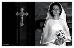 (Imati) Tags: interior trix boda iglesia d76 1978 novia nikkormat crucifijo nikkor135mm