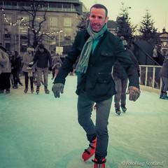 Hello Skater! (FotoFling Scotland) Tags: scarf beard scotland edinburgh january skater skates winterwonderland 2015