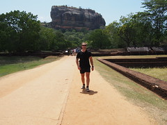 Infront of Sigiriya rock fortress, a unesco world heritage site!