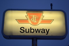 Lansdowne subway station (hogtown_blues) Tags: winter signs toronto ontario canada ttc bloorlansdowne torontosigns