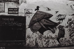 Cho! (Black Baron93) Tags: street city blackandwhite bw streetart film painting graffiti blackwhite paint downtown pentax kodak citylife filmcamera pentaxmesuper saigon blackandwhitephotography kodakfilm filmphotography rikenon thestreet sign ubran blackwhitefilm saigonstreet kodak400tmax pentaxcamera pentaxfilmcamera rikenon3570 saigondowntown ubranarea penataxfilmcamera rikenonpzoom3570f3445