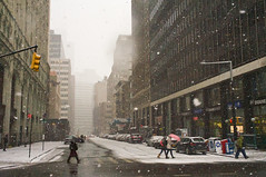 Winter showers at Park Place in New York (Lojones13) Tags: winter snow newyork streets cityscape manhattan parkplace