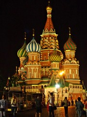 MOSCA - Russia (cannuccia) Tags: landscape russia luci colori paesaggi mosca chiese cupole notturni 100commentgroup