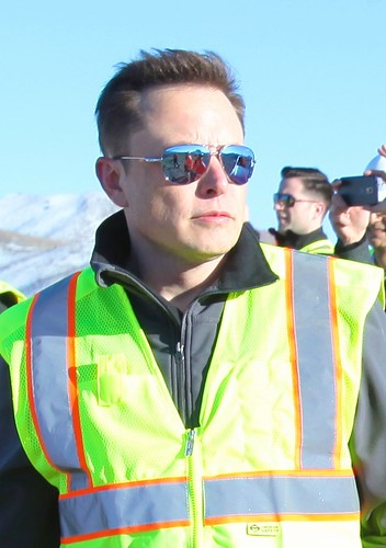 From flickr.com: Elon Musk oveseeing the construction of Gigafactory {MID-170566}
