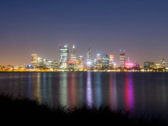 Perth at Twilight (jp3g) Tags: city skyline buildings reflections river twilight dusk perth swanriver