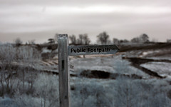 Footpath (Twebster15) Tags: public sign walking ir photography countryside nikon d70 infrared footpath rightofway