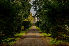 The Last Journey (Explore) (trevorhicks) Tags: trees canon shadows cemetary chapel devon tamron tavistock pathway 70d