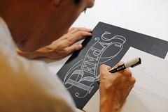 The start (Ivan Jernimo) Tags: chalk florianpolis negro quadro uni lettering process chalkboard visual blackboard ilustrao giz painel letras comunicao caligrafia processo  posca letreiro   letreiramento