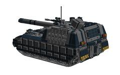 """Ronin"" Heavy Tank Destroyer (-Lee Barton-) Tags: lego military ronin ldd heavytank internalview legotank heavytankdestroyer"