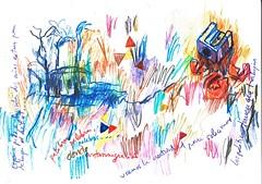 PINTARRAJEANDO EL PAPEL (GARGABLE) Tags: portrait sketch retrato drawings colores papel ideas dibujos palabras apuntes composicin manchas pintarrajeando gargable angelbeltrn