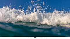 Foamy Tendrils ([ dg ]) Tags: abstract foamy tendrils ocean shorebreak green blue white bubbles fineart sea bluesky closeup