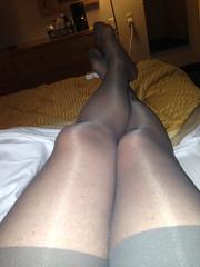 Love Grey (Miss H2) Tags: sheer pantyhose nylon stockings nylons leg foot bas collants strumpfe sexy lingerie heels feet feminine tg shiny panty transparent glossy sheen