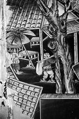 Storm Damage (-j-o-s-e-) Tags: blackandwhite bw house storm art abandoned beach water japanese islands sand decorative hurricane ivan grand screen caribbean cayman damaged textural laquered