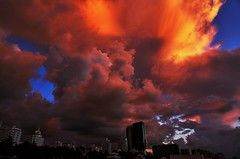 firestorm is coming (CU TEO MD) Tags: clouds highrise hotel buildings beach ngc soe artofimages twop simplysuperb storm sony a6300 miami florida vacation travel explore fire