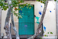 Geltru Splashes (Bruce Poole) Tags: green blind balcony july vert catalonia julio shutter catalunya catalan verte rustyandcrusty 2016 julliet greenblind paintsplatters paintsplashes payscatalan otherkeywords brucepoole vilanovalegeltru