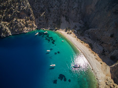 Agios Georgios / Symi (NT) Tags: from sea summer sky mer beach nature water beautiful landscape boats vacances landscapes boat holidays eau paradise view ile du bateaux aerial hidden greece ciel terre t bateau paysage plage rhodes vue grce vacaciones symi paysages paradis islande rhodos arienne le mditerrane drone georgios plages arien agios paradisiaque q500 dodcanse ge yuneec