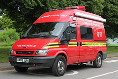 Hampshire Fire And Rescue Ford Transit Command Support Unit (Ben Greenwood 999) Tags: rescue ford fire support hampshire transit and command unit bluelights hx05juh