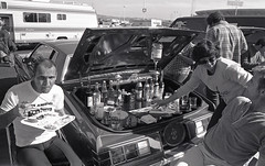 Oakland, California 1980 (Dizzy Atmosphere) Tags: oakland oaklandcalifornia oaklandca oaklandraiders oaklandcoliseum tailgateparty adultbeverages football nfl parkinglot liquor booze