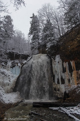 Snowing on Tiffany (awaketoadream) Tags: winter white snow ontario canada vertical waterfall gloomy cloudy snowy hamilton conservation falls southern covered area snowing tiffany ancaster