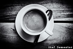 Coffee! (stef demeester (off for a while)) Tags: blackandwhite bw cup coffee monochrome x70 stefdemeester fujifilmx70