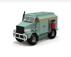 tha sugga daddy (Thomas of Tortuga) Tags: lego ldd render povray dcvi armored car truck military cold war modern