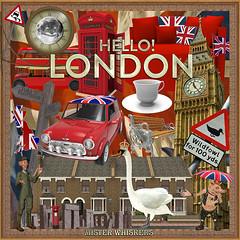 Promo layout cover for Hello! London (Futurilla) Tags: uk london tourism swan graphics icons tea bigben mini british symbols unionjack scrapkit