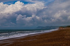 Clouds over the beach (frankshepherd2) Tags: cloudscape natur nature england dorset chesilbeach sea sand coastline coast seashore clouds beach