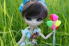 Aileen Meli-Melo-Dolls- (Juju DollPassion) Tags: balloon obitsu purple wig ddalgi custo custom doll dolls pullip