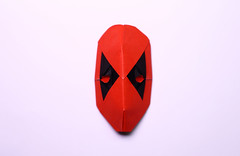 Deadpool Mask (IG: bartfartsart) Tags: art paper fun origami mask hobby marvel interest folding antihero deadpool