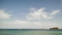 Nora (Tommaso Bellan) Tags: nora spiaggia mare sardegna italia italy seaview seascape sea vacanze beach vela baia blu onde onda cielo nuvole cloud pula
