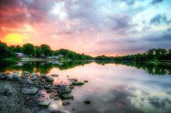 Sunset Sunday (Reeshema Wood Photography) Tags: outdoor landscape sunset vibrant colors aurora illinois wood reeshema fox river