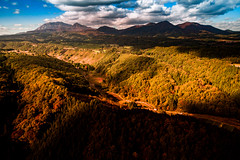 PhoTones Works #8046 (TAKUMA KIMURA) Tags: photones dji phantom3 takuma kimura   landscape scenery nature autumn leaves daisen okayama tottori japan mountain mountains