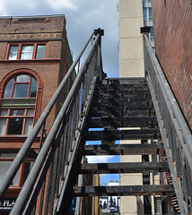 stairway to ? (mcfcrandall) Tags: metalstairs exterior fireescape downtown urban buildings