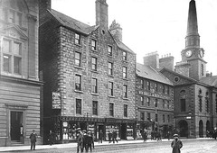 High Street (Dundee City Archives) Tags: old olddundeephotos dundee photos edwardian 1900s historic buildings highstreet townhouse frains williambellsons clothiers jamesramsay silversmith henryadamsson thepillars williamdoig chemist glovers farrowsbankltd shops flats victorian tenements housing bank