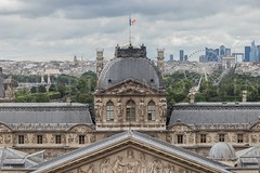 (charlesmoulin) Tags: ontheroofs roofs roof symmetry beautiful panorama pano view landscape cityscape buildings building ladefense champselysees museum louvre europ europe france city paris
