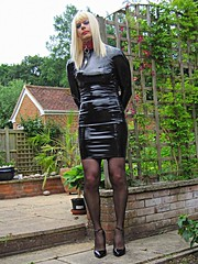 PVCPatsy   PatsyPVC PVC Fetish Slut (PVCPATSY TV) Tags: pvcfetishslut pvcfetishdress pvc latex fetish tight dress shiny outdoors transvestite shinystockings 6inchhighheels