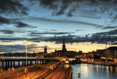 Stockholm, Sweden (neilalderney123) Tags: 2016neilhoward stockholm sweden landscape citysacpe night olympus water cloud reflection