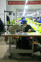 Raijn (Rason) Textile factory (Frhtau) Tags: arbeit work scene street life daily man woman walk city centre dprk north korea east building nordkorea people asia asian korean design      corea del norte core du nord coreia do coria    photo picture leute fashion causual modern modernisation changes culture rajin rason economical szone zone wirtschaft factory textile textil cut material mode society