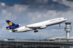 Lufthansa Cargo MD-11F D-ALCC (TimSadchikov) Tags: lufthansa lufthansacargo md11f md11 mcdonnelldouglas trijet triholer threeholer torontopearsoninternationalairport toronto pearson airport aviation freighter cargo takeoff