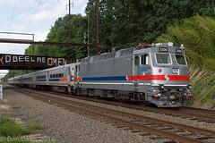 SEPTA 6352 @ Woodbourne, PA (Dan A. Davis) Tags: railroad locomotive woodbourne langhorne pennsylvania pa septa alp44 passengertrain railroadphotography